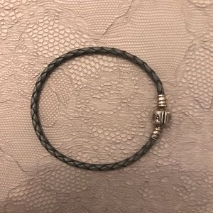 Pandora leather bracelet - single strand